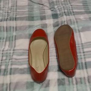Red flat balarina shoes